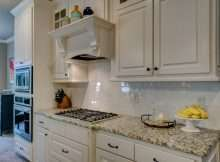clean kitchen with oven