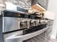 close up of oven glass door