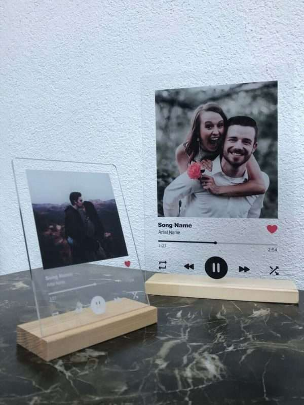 Personalised Spotify Glass Plaque